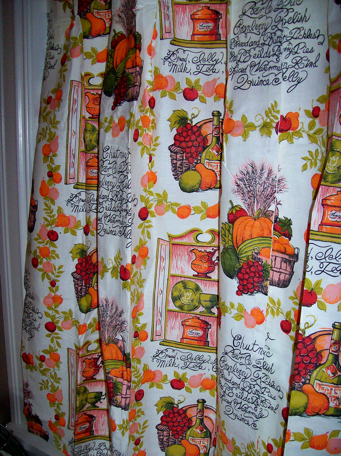 Fall Kitchen Curtains Retro Wallpaper Autumn Lights Picture