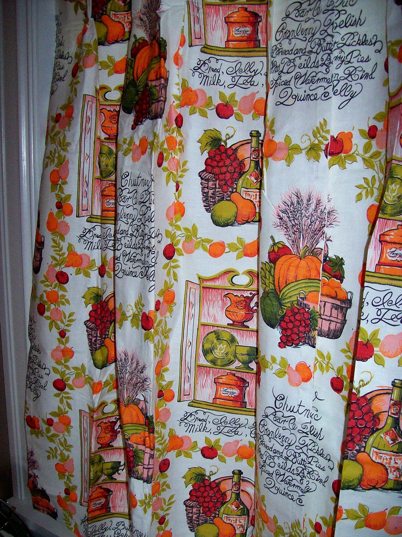 Autumn Lights Picture Autumn Kitchen Curtains