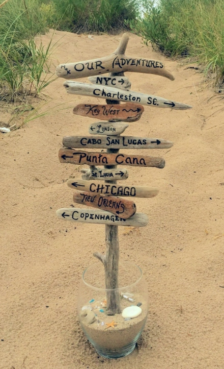Outdoor Directional Beach Signs