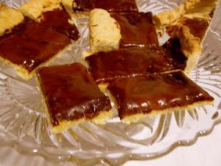 sós karamellás csokoládé tarte