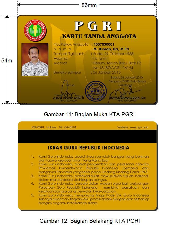 PGRI Kota Malang: Kartu Tanda Anggota PGRI