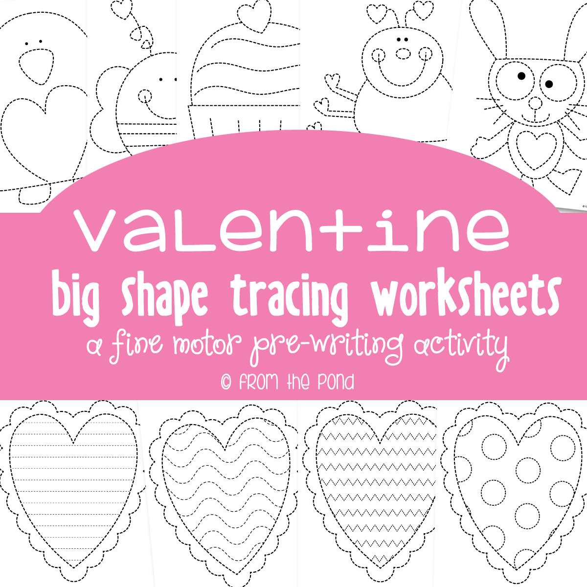 Valentine Tracing Pages