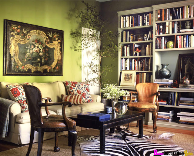 Idea for olive and pink bedroom walls interior - Red black and white themed living room ...