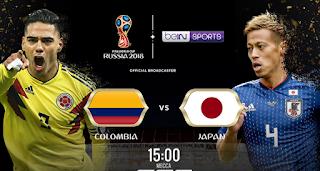 موعد وتوقيت مباراة كولومبيا واليابان اليوم الثلاثاء 19-6-2018 ضمن كاس العالم 2018 والقنوات الناقلة