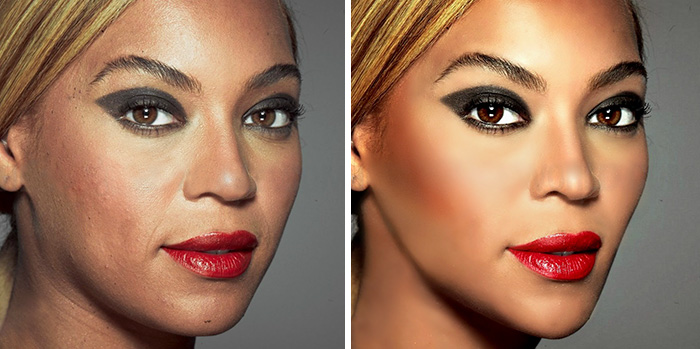20 Before & After Images Of Celebs Reveal Society's Unrealistic Standards Of Beauty - Beyonce