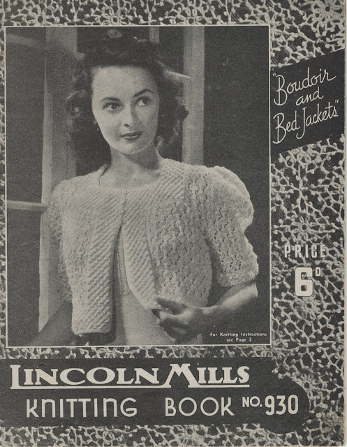 The Vintage Pattern Files: Free 1940s Knitting Pattern - Lincoln Mills No.930 Boudoir & Bed Jackets