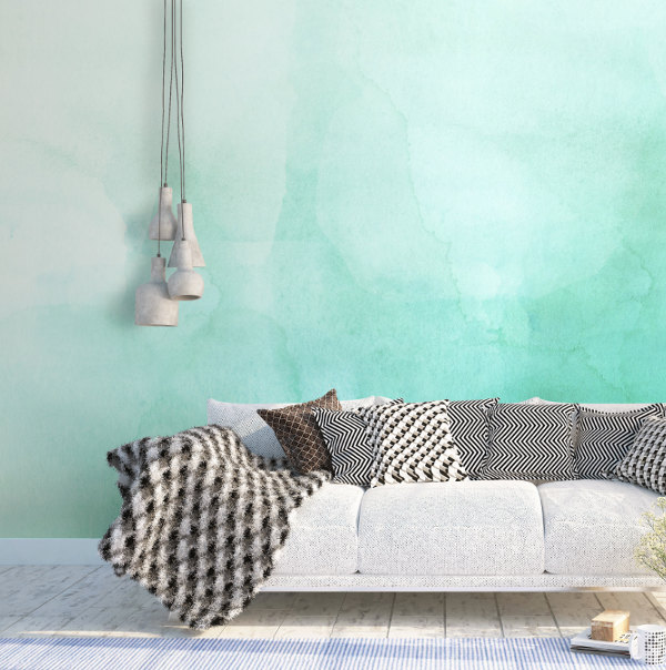 wallpaper watercolor acuarela decoración decoration deco style