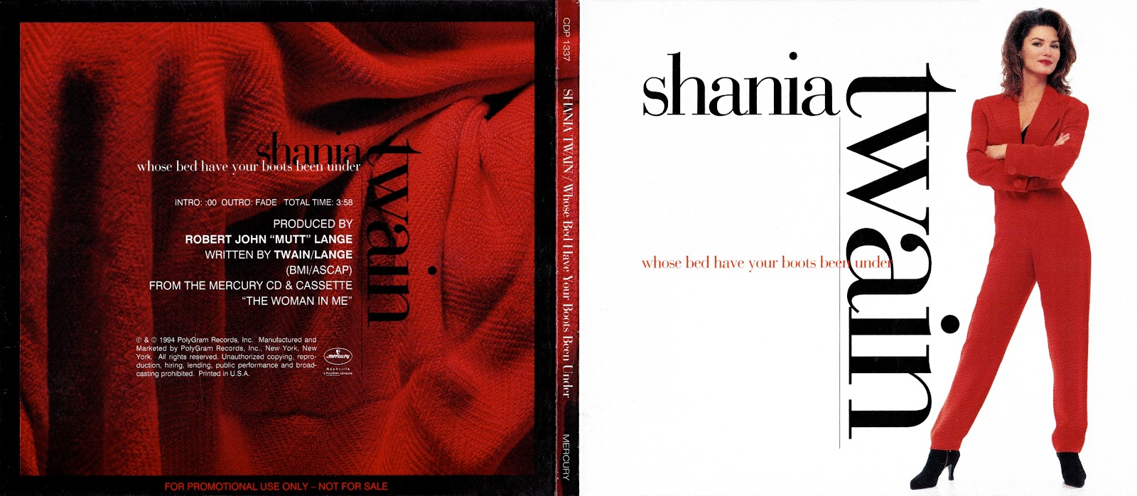 Shania Twain Discography Whose Bed Have Your Boots Been