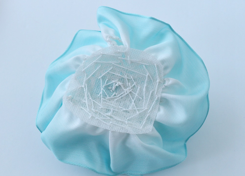 Back of ribbon rose