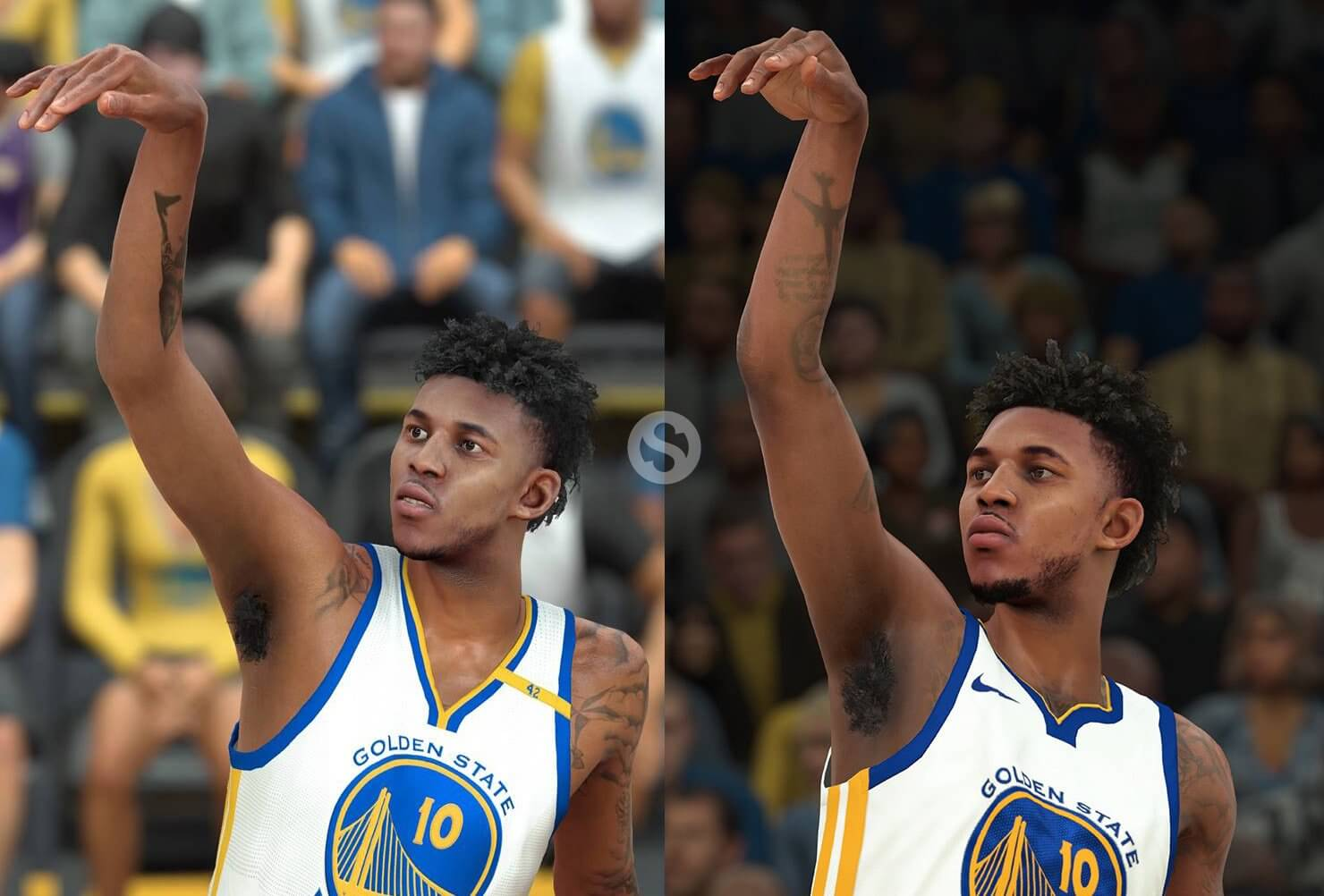 NBA 2k18 NBA 2k17 Screenshot Comparison - Nick Young