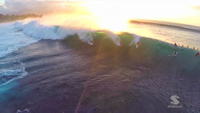 Eric Sterman Drone Pipeline Surfing