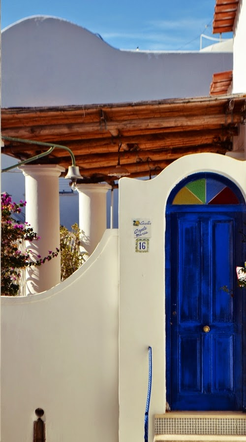 Colourful Doors in Capri, Italy