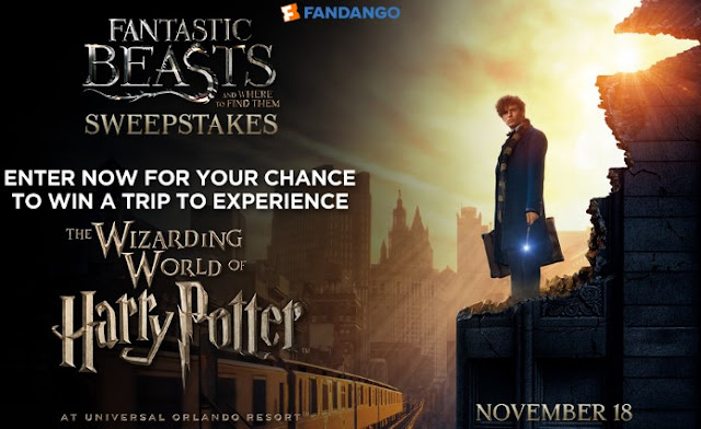 Fandango is giving you a chance to win a free trip for four to Orlando to visit the Wizarding World of Harry Potter, a prize worth nearly $5000!