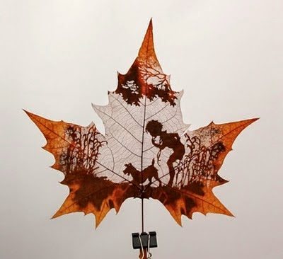 awesome leaf artwork