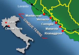 Map of Cinque Terre