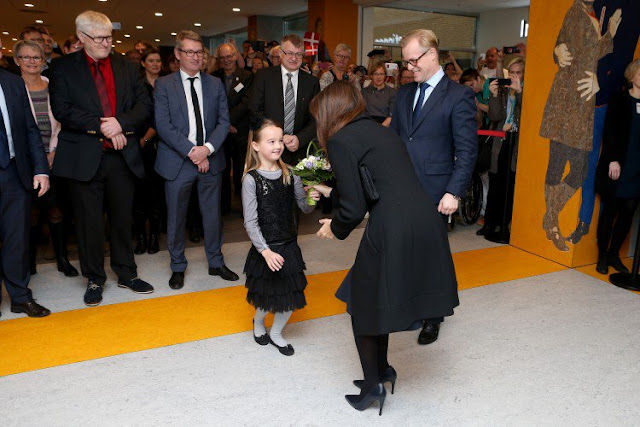 Princess Marie of Denmark attended opening of Hospital