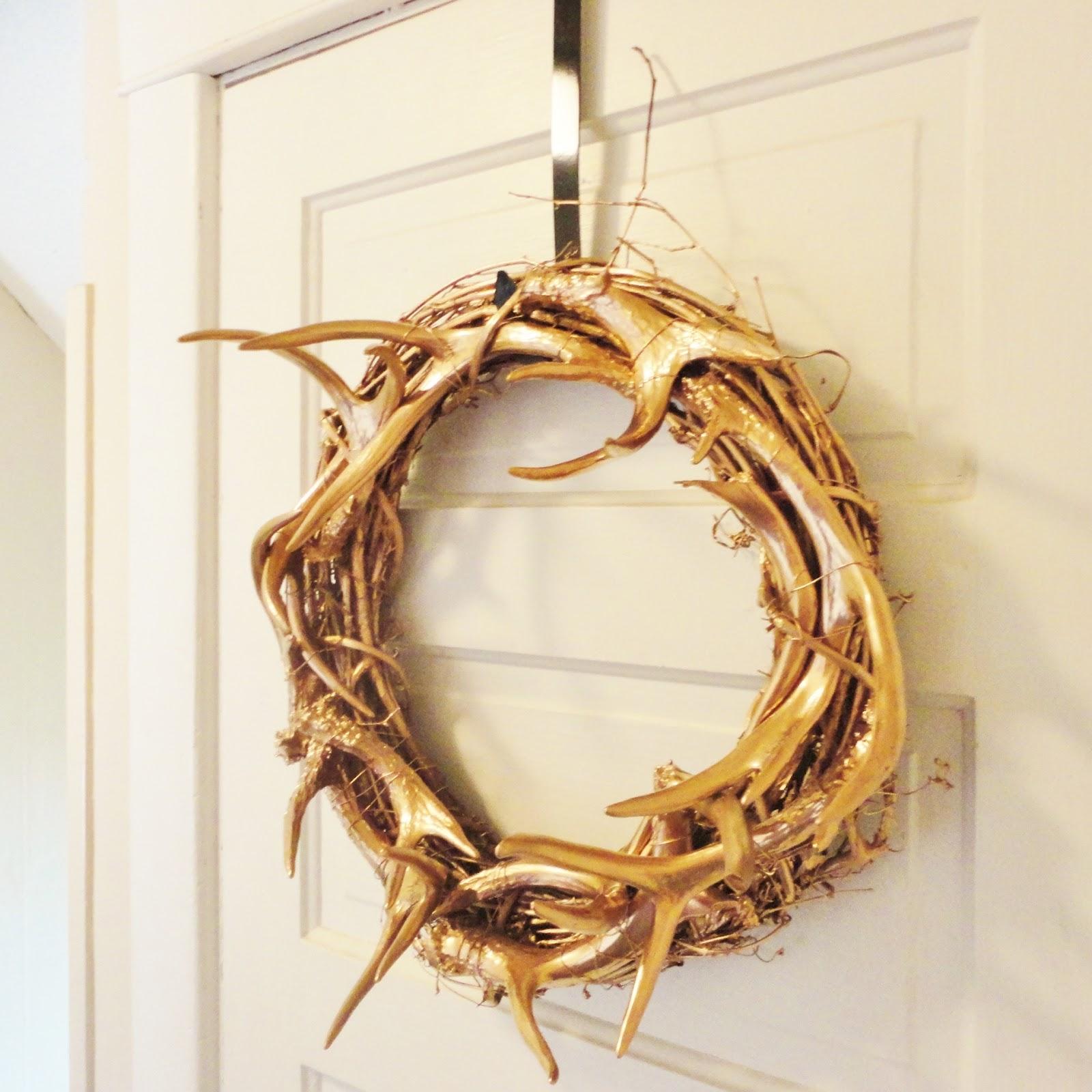 Copper Antler Wreath Diy