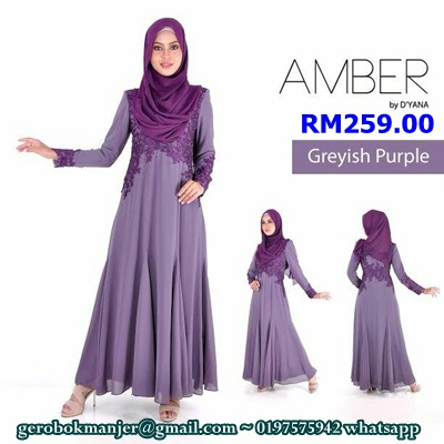 DRESS CHIFFON PRINCESS CUT AMBER by DYANA