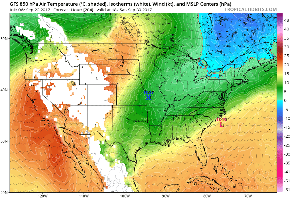 That Trough Should Leave Us With A Great Fall Chill By Next Weekend