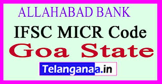 ALLAHABAD BANK IFSC MICR Code Goa State