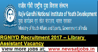 RGNIYD-Recruitment-2017-Library-Assistant