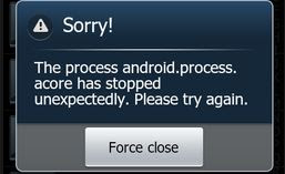 Fix android.process.acore has Stopped Error