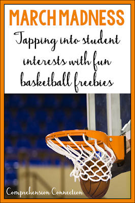 March Madness teaches us the importance of student choice. Kids love activities and books that match their interests. This post includes free materials with a basketball theme.