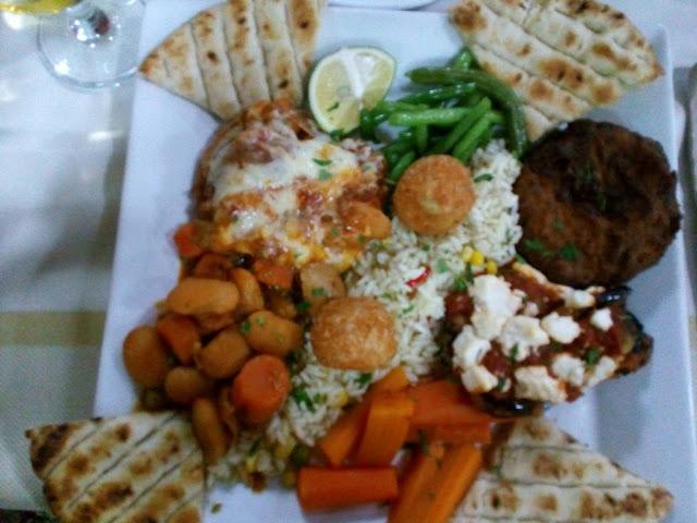 ristorante roulas a  lardos: piatto vegetariano