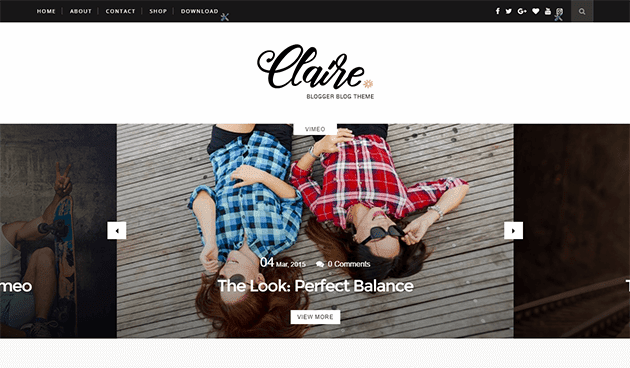 Claire Personal Blogger theme