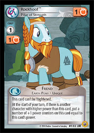 My Little Pony Rockhoof, Pillar of Strenght Friends Forever CCG Card