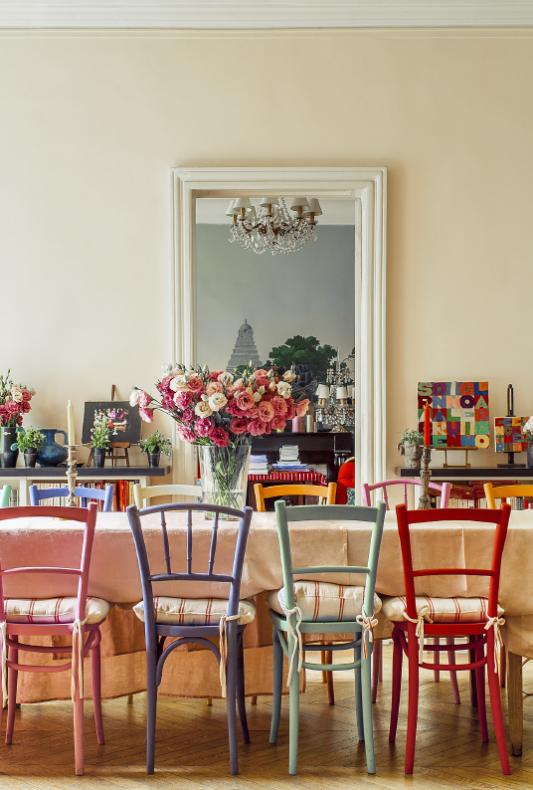 at home with in s de la fressange. Black Bedroom Furniture Sets. Home Design Ideas