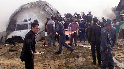 May 2002 a Boeing 737-500 belonging Egyptian airline crashed