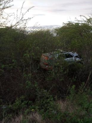 ANIMAIS NA ESTRADA: Viatura policial capota em Aracati