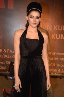Urvashi Rautela looks Super Cute in a Black Velvet Jumpsuit at Sarbjit Hindi Movie Special Screening