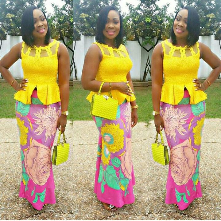 Kitenge Mixed With Satin,chiffon And Lace Designs