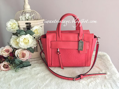 designer handbags coach 6hcw  Coach 27923 Bleecker Mini Riley Carryall in Leather-Love Red