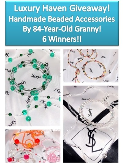 handmade beaded accessories necklace bangles giveaway