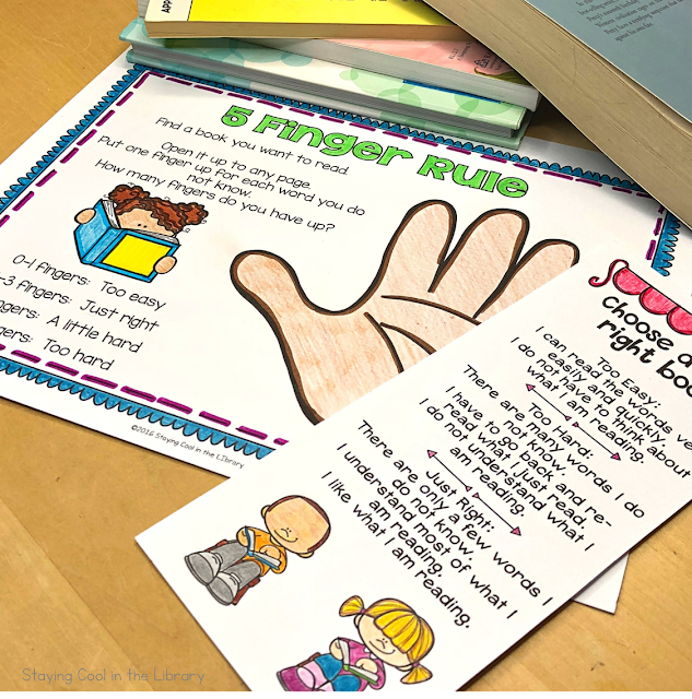 five finger rule posters and bookmarks