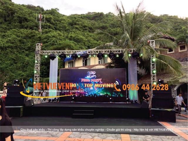 Cho thuê sân khấu, khung backdrop tại hà nội - Thiết bị sự kiện | VIETVUEVENT