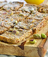 Lemony Snicket Pistachio Bars