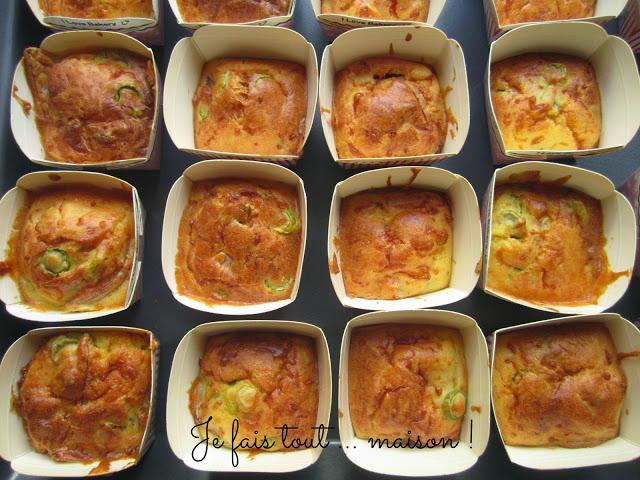 Muffins salés jambon olives