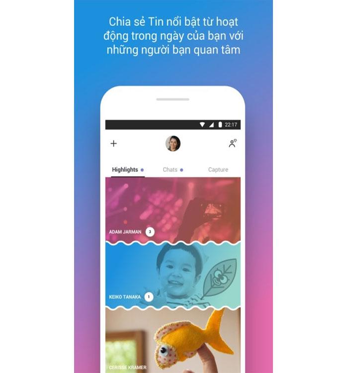 Chia sẻ những tin nổi bật với Skype Android
