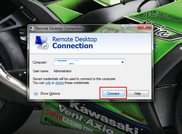 Connect Remote Desktop Connection