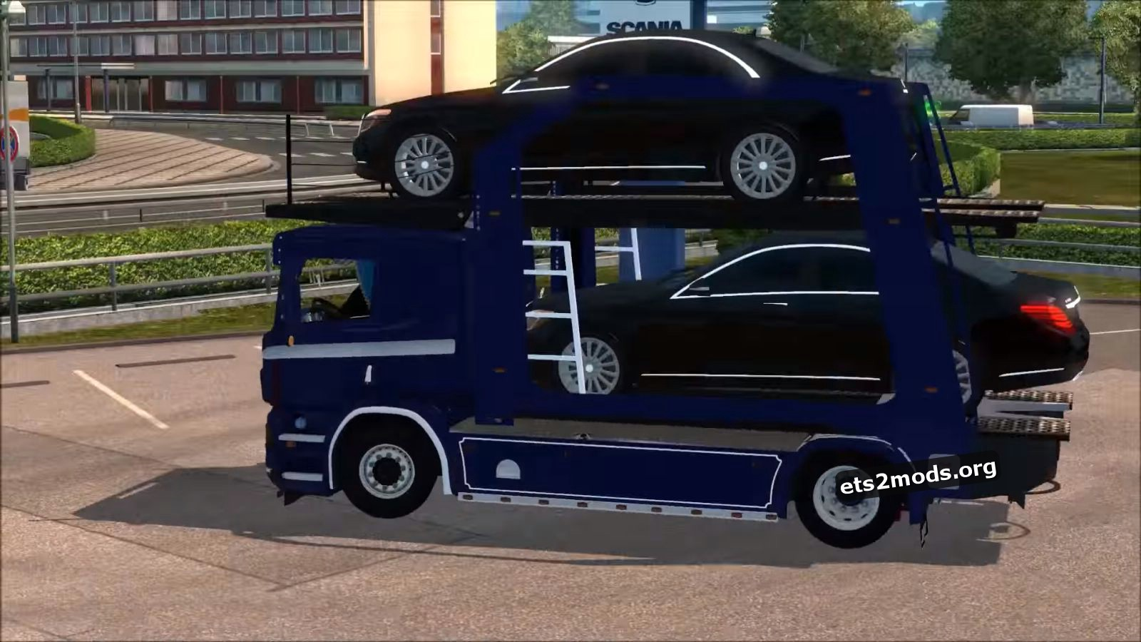 Truck - Scania P400 Car Transporter