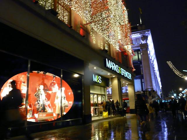 Londres Oxford Street à Noël