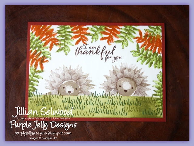 Painted Harvest Hedgehog card