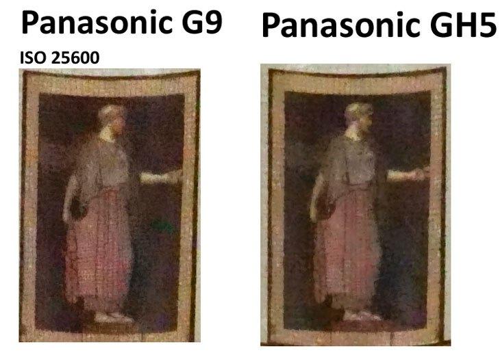 Сравнение ISO 25600 на Panasonic Lumix GH5 и G9