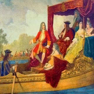 Cuadro que muestra Georg Friedrich Händel con el rey Jorge I el 17 de julio de 1717 en el Támesis.
