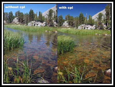 sebelum dan sesudah memakai filter cpl
