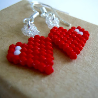 Brick Stitch Hearts